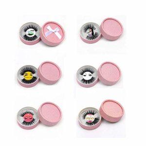 HXUJ 100 Paires de Cils Bande Transparente Cils de Vison fabriqués à la Main Maquillage pour Cils Invisibles