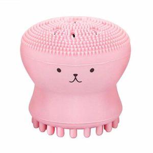 JFPA Brosse à Visage en Silicone Brosse à Cheveux pour Le Visage Gommage pour Le Visage Brosse à récurer Peau Petite Forme de Poulpe