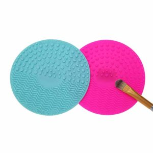 KINGDUO 2Pcs Silicone Brosse Nettoyant Pad Maquillage Brosse Gommage Nettoyant Cosmétique Outil