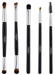 Kit de Pinceaux de Maquillage pour les Yeux et Sourcils Eyes 'n' Brows – Brosse à cils, Blender fard à paupières, Pinceau Biseauté et plus