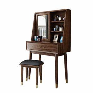 Lahiue Table de Maquillage avec Miroir Bois Coiffeuse avec tiroir for Filles Femmes Meubles de Chambre à Coucher (Couleur, Taille : Free)