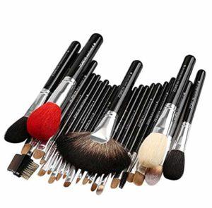 Lot de 26 pinceaux de maquillage de qualité supérieure – Pour fond de teint, fard à paupières, contour du visage, brosse pour le visage, trousse de maquillage