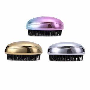 Pinceau de Maquillage 3pcs peigne de massage du cuir chevelu brosses brosse pommeau de douche shampooing brosse laveur de cheveux (doré/argenté/coloré)