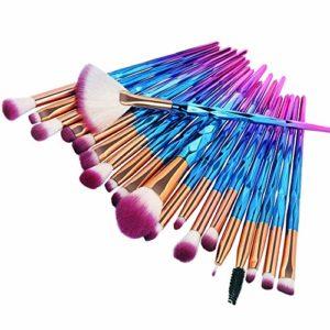 Pinceaux de maquillage, ensemble de pinceaux 20pcs Nincee pour mélange de fond de teint poudre correcteur de blush surligneur ombres à paupières kit de pinceaux (Violet)