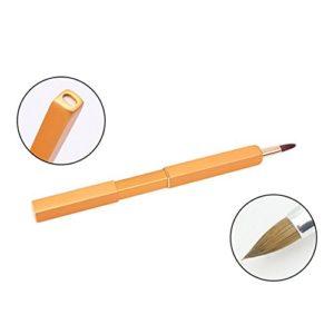 Pinkiou Brosse à lèvres Brosse à lèvres grossière Outil de pinceau de maquillage pour les lèvres rétractable (D'or)