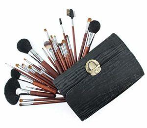 Set de 26 pinceaux de maquillage Kit de pinceaux de maquillage avec sac de transport et pinceau de maquillage