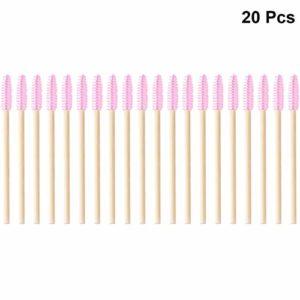 SOLUSTRE 20 Pcs Brosses À Cils Baguettes De Mascara Cils Yeux Sourcils Applicateur Cosmétique Maquillage Brosse Outil Pour Les Femmes