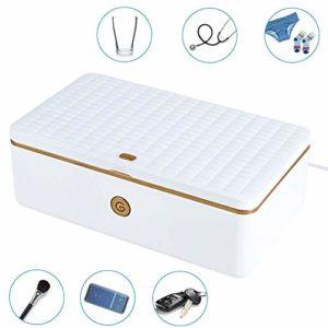 TIANMIAOTIAN Portable Stérilisateur UV, 3 Min Stérilisation Rapide 99,9%,Adaptée Aux Téléphones Portables, À L'esthétique, Aux Outils De Beauté Et Aux Soins Personnels