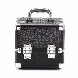 Trousse de Maquillage Multifonction Portable Maquillage Voyage Cosmétique Sacs Trousse De Toilette Pour Ados Filles Femme Artistes pour les Voyages d'affaires et le Tourisme ( Color : Black+Red(S) )