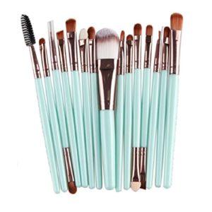yistu universel Lot de 15pinceaux de maquillage, maquillage professionnel brosse outils de maquillage trousse de toilette