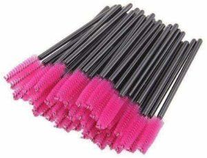 100 Brosses à cils jetables, pinceaux à cils jetables, outil de maquillage mascara brosse à sourcils applicateur