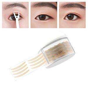 1Roll 300Pairs Couleur de peau Crescent Autocollant mat en forme de dentelle Rubans pour paupières invisibles avec fourchette en Y