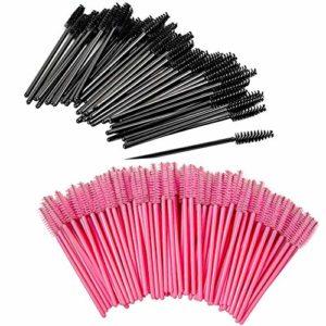 200 Pièces brosses à cils jetables, brosse à mascara à cils jetable, brosses cosmétiques pour cils et sourcils, baguettes à mascara pour salon de beauté et usage domestique