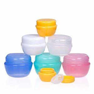 24 pièces vides Contenants de cosmétiques en Plastique Voyage Pot Bocaux pour Ombre À Paupières Crème Ongles Poudre Maquillage De Stockage
