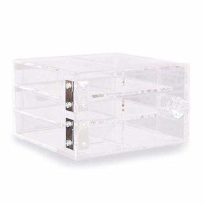 Affichage de cils 6-couche acrylique durable boîte de stockage d'affichage de cils de greffage transparent