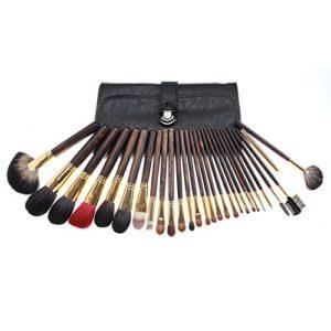 Bixialan Pinceau de Maquillage 28 Pcs Cosmétique Maquillage Pinceau Set Outils Maquillage Trousse De Toilette Nylon Pinceau Cosmétique Pinceau Yeux