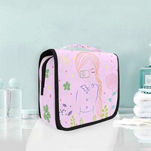 Dame De Dessin Animé Trousse De Toilette Sac Pliable Suspendu Cosmétique Sac Rangement Maquillage sacs pour Voyage Femmes Filles