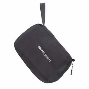 Faliya Multi-function Trousses De Toilette Zipper Makeup Bags Cases Frosted Cloth Sac De Stockage De Voyage Organisateur De Lavage pour Femmes Filles, Noir