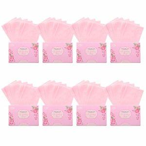 Gobesty Papier buvard à lhuile, 800 PCS Tissus absorbant lhuile naturelle Hommes et femmes Feuilles absorbantes pour le visage pour les soins de la peau ou le maquillage