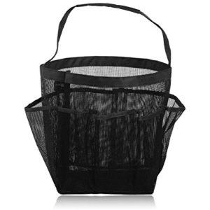 Hysagtek Qucik Dry Sac de rangement portable avec 8 poches en maille pour la douche, les produits cosmétiques noir Noir