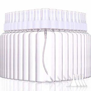Lot de 100 flacons de vaporisateur vides en plastique transparent – 100 ml – Pour maquillage et cosmétiques – Lot de 100