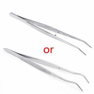 luosh Brucelles dentaires Brucelles en Acier Inoxydable Instruments dentaires incurvés incurvés Outil Dentaire