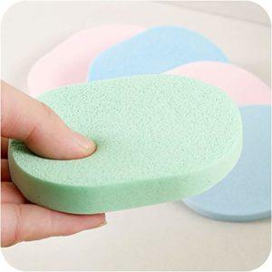 Lurrose 50pcs coloré éponge de nettoyage réutilisable éponge pour le visage éponge naturelle soins du visage éponge Make Up Sponge for Salon