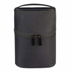 Maquillage Sac femme Sacs homme grand sac cosmétiques voyage en nylon imperméable Organisateur cas Necessaries Make Up Wash Sac de toilette (Color : Black)