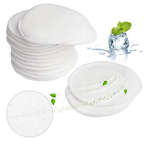 MASCARRY Coussinets démaquillants réutilisables avec baie pour lessive, 16 paquets de tampons lavables en coton doux pour bébé, lavables, pour soins de la peau du visage (Blanc)