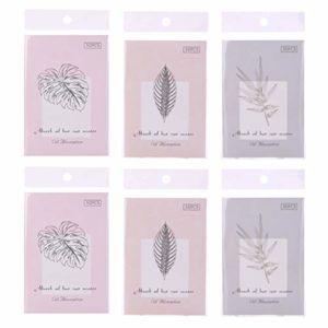 Minkissy 6 Sacs 300 Pcs Huile Buvard Papier Visage Lingettes à Lhuile Feuilles de Buvard Bsorbing Tissus Beauté Buvards pour Soins de La Peau Maquillage Huile pour Le Visage (Style Aléatoire)