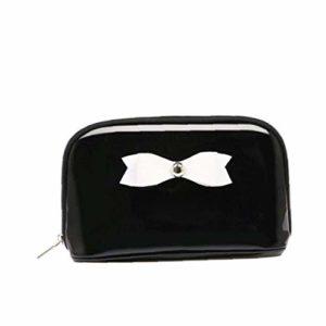Mode Maquillage cosmétique Sac étanche poche papillon noeud de stockage Sac Black