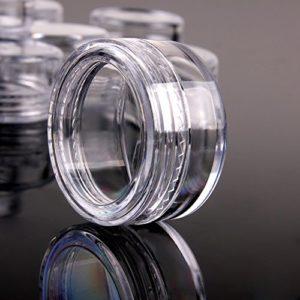 MoreChioce 5g / 5ml Bocaux en Plastique,200 Pièces Vide Jars Crème Pots Transparente Boîte Cosmétiques Voyage Maquillage Récipient avec Couvercle