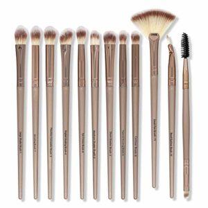 Ochilima Lot de 12 pinceaux de maquillage pour les yeux synthétiques, fard à paupières, pinceaux de maquillage pour les yeux