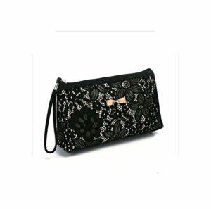 Organisateur De Maquillage Vanity |New Women Lady Bag Travel Cosmetic Bag Purse Handbag Make Up Bag Polyester Printing Zipper Liner Organizer-Black-