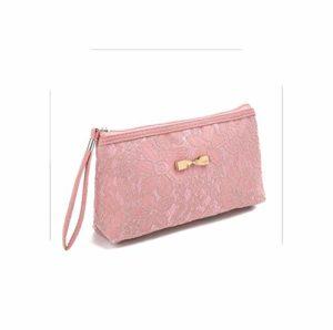 Organisateur De Maquillage Vanity |New Women Lady Bag Travel Cosmetic Bag Purse Handbag Make Up Bag Polyester Printing Zipper Liner Organizer-Pink-