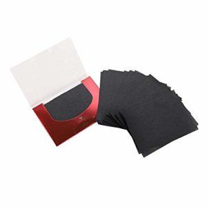 Papier buvard, outil de nettoyage facial pour feuilles absorbantes d'huile de film de maquillage portatif, papier de contrôle d'huile pour peau grasse, 90pcs*2 boîte