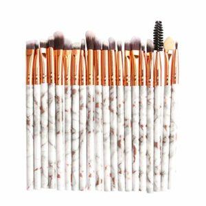 Pinceau Maquillage 20Pcs Cosmétique Professionnel Kits Poils Synthétiques Pour Fond de Teint L'anticernes et Correcteur Ontouring,Blush,Highlighter,Lèvre,Creux de La