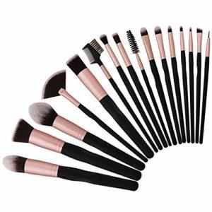 Pinceaux de maquillage Set 16pcs Professional Cosmetic Brush Foundation Blending Face Powder Blush Concealers Eye Make Up Brush Kits – Élégant étui en cuir PU inclus