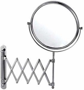 QIANSHI Miroir Table Maquillage rétractable Miroir Salle de Bains Toilettes Pliante Double Face pivotante 360 degrés Miroir cosmétique, 6inch, Couleur: 6inch Miroir Outils de beauté (Color : 8inch)