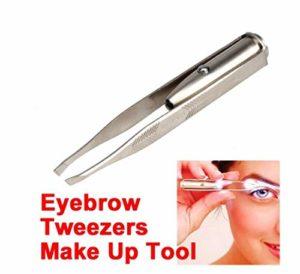 Recourbe-Cils Brucelles LED Professionnelles Outil Préparation de l'acier Inoxydable,Accessoire Maquillage Cosmétique Frisé Pour les Femmes les Filles Soin Visage avec épilation aux cils