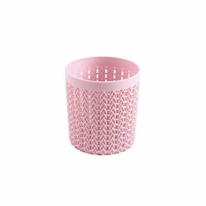 Tiroirs à Maquillage |Rose/Gris Cylindre Creux Cosmétique Brosse Boîte Titulaire Cylindre De Stockage Vide Support Cosmétique Brosse Sac Brosses Organisateur Make Up-Rose-