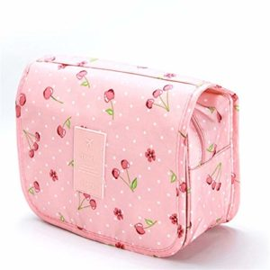 ZJXYYYzj Trousse De Maquillage, Sac cosmétique Voyage Femmes Maquillage Sacs de Toilette Organisateur Rangement étanche Neceser Hanging Salle de Bains Trousse de Toilette (Color : Pink)