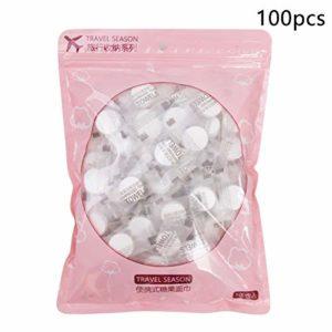 100 maquillage doux pour la peau gommage jetable coton doux magique serviette compressée voyage soins du visage portable modulable sport | serviette |