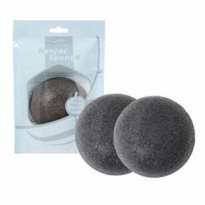 Beaupretty 3pcs konjac éponges pour le visage éponges doucement éponge de nettoyage amical laver visage flutter éponges naturelles soins du visage (charbon de bambou noir)