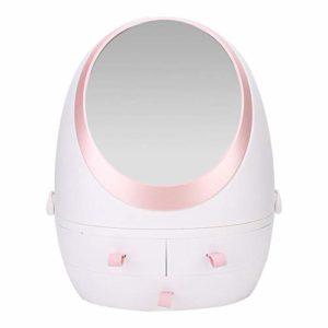 Boîte de rangement pour cosmétiques, tiroir de bureau, étagère de produits de soin de la peau anti-poussière pour pinceau de maquillage, bâton à lèvres, cadeaux beauté blanc