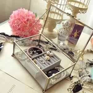 Boîtes À Bijoux Boîtes Cosmétiques Beauté Maquillage Des Ongles Cosmétiques Boîte Vanity Maquillage Case Jewerly Afficher Boîte Organisateur Boîtes Cosmétiques Boîte De Rangement De Finition Boîtes Ét