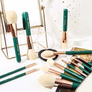 DUcare Pinceau Maquillage 13Pcs Cosmétique Professionnel Kits Poils Synthétiques Pour Fond de Teint Blush,Highlighter,Lèvre,Creux de La Paupière,Sourcils,Ombreur