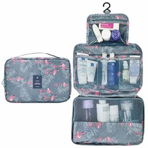 HQdeal Cute Polka Dot Cosmétique Sac Maquillage Pouch Case Toiletry Sac Maquillage Sac – Rose