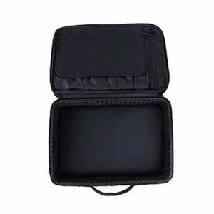 Maquillage Voyage Case cosmétique Voyage professionnel Boîte de rangement avec bandoulière eau Sacs de maquillage résistant Noir 1Régler