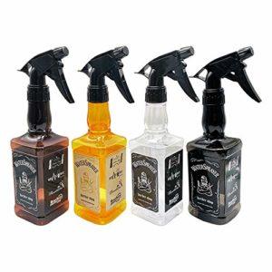 MELLRO Bouteilles Spray 4 contenants réutilisables Pulvérisateur Pack Bouteilles Spray Vide en Verre for la beauté de l'eau Cuisine Salle de Bain Nettoyage pour Maison et Le Jardin